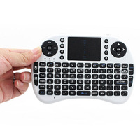 Wholesale English Keyboard Rii mini i8 Air Mouse Multi-Media Remote Control Touchpad Handheld Keyboard for TV BOX PC Tablet