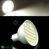 MR16 4.5W 60-SMD 3528 LED 240LM 5500-6500K White Light Bulbs * Aluminum Cover*