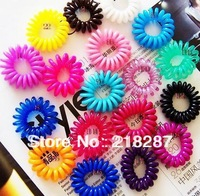 Free shipping! 200pcs/lot New Telephone cord phone strap hair band hair rope hair accessory ponytail holder hair holder