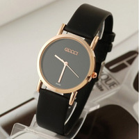 2013 New Fashion Christmas Gift Women Men Brand Dress Watch Leather Wristwatch Quartz Luxury  Watches Freeshipping