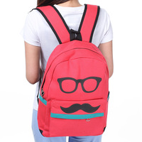 2013Backpack canvas casual female student backpack girl IPAD school bag women's cute backpack