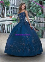 Star Sparkle Great Sweetheart  Ball gown Quinceanera Dresses Bubble Organza Free Shipping Custom-made  color and size  available