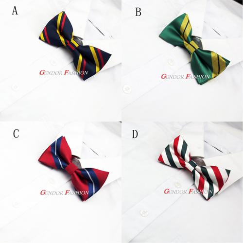 4 male bow tie stripe bow married fashion fancy bow tie(China (Mainland))