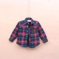 Wholesale 2013 Kids Autumn & winter Oxford  shirts boys lapel long sleeves shirts Children blouse 2 colours