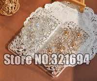 New Arrived Cool 3D Skull Swarovski Element Crystal Back Phone Cover Case For iPhone 4 4S Free Shipping