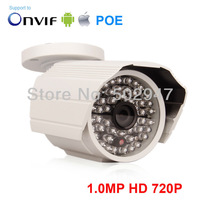 POE HD 720P 1.0 Megapixel H.264 Onvif IR Night Vision Weatherproof CCTV Security Camera Network Camera IP Camera