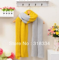 New winter warm spell color wool scarf, Ms. Scarf thicker section