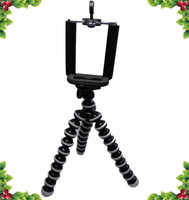 50pcs 75mm Universal bracket holder + Octopus Flexible Tripod Stands for Cell Mobile Phone With Tracking Number