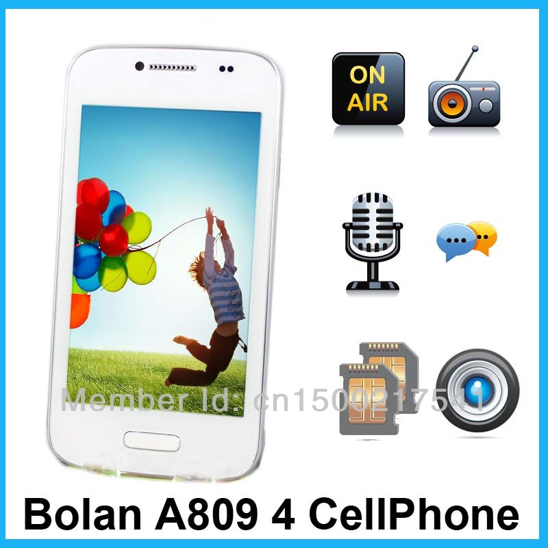 New A809 4 inch smart Cellphone Android 4.2 GSM unlocked Dual Camera Dual card Dual standby co