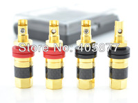 Audicrast AB-306(G) Gold Plated Speaker Terminal plug Carbon Finber Binding post