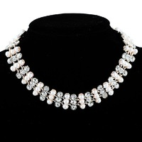 Free shipping necklaces & pendants Fashion women chunky necklace Pearl necklace Choker necklace N2229