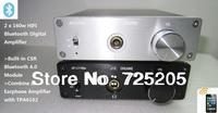 HIFI Bluetooth Digital Amplifier TDA7498 2 x100W Bluetooth4.0 CSR Chip and TPA6120 Earphone Amp Automatic Switch Aluminum Casing