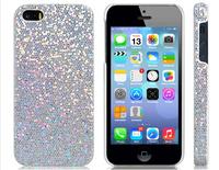 Glitter Skin Plastic Case for iPhone 5S/ 5 (Silver)