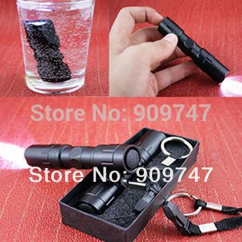2pcs/lot,HOT selling MINI led protable flashlight waterproof flashlight 1w Camping Illumination mini LED handyflashlight(China (Mainland))