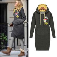 Free Shipping autumn winter beading vestidos beading plus xxxxl wool casual dress big size women clothes DM132073