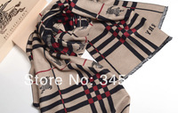 Women's Elegant Cashmere Scarf, Classic Grid Soft Big Long Shawl Scarves Gifts ,190X75CM , Best Gift , FREE SHIP! , 3 colors