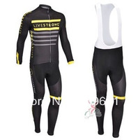 free shipping!2013 lives team long sleeve cycling jersey and bib pants Kit,biking clothes,bicycle wear,bike jersey