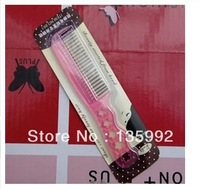 Anti-Static Loop Brushes Steel Comb For Hair Wig,Hair Extensions Pink Plastic Hair Brush Comb Hair Accessories Free Shipping