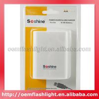Hot Selling Soshine SC-EAA Power Source & USB Charger for 4 x AA Ni-MH Battery