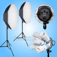 5 Socket 5000W (10X 115W Bulb) Octagon 95cm Softbox Continuous Lighting Kit 220V