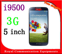 new I9500 S4 5 inch android 4.2.2 MTK6577 3G WCDMA GPS 8MP s4 Smart Phone Micro SIM Single Card Free shipping