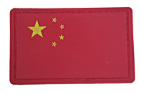 Pvc flag armatured five-star red flag velcro armband plastic flag badge Army Green flag velcro