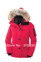 Free shipping 2013 canada fashion brand winter jacket for women long thicken goose down jacket,duck goose women parka dowm coat