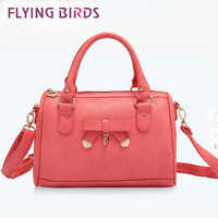 FLYING BIRDS! new arrive hot selling Boston bow soft leather bag messenger pouch diagonal package women handbag LS1170