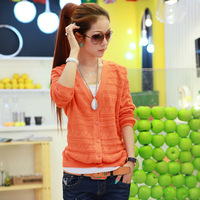 Autumn outerwear 2013 women's short jacket female spring and autumn cardigan outerwear gradient color
