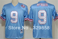 Free Shipping Authentic Throwback American Football Jersey #9 Steve McNair Throwback Jerseys Wholesale Embroidery Logos