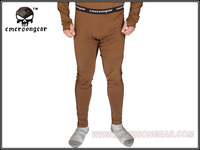 Emerson Zip version Breathable Warm Underwear Thermal underwear against winter velvet ware Pants EM6858 brown