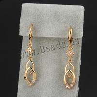 Free shipping!!!Brass Lever Back Earring,2013 new arrive mens, 18K gold plated, micro pave cubic zirconia, nickel