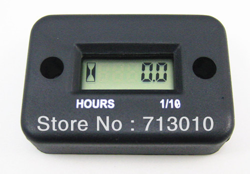 Free Shipping ! LCD Inductive Digital Hour Meter For Marine,ATV,Motorcycle,Snowmobile With Retail Box(China (Mainland))