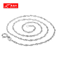 Wave chain s925 silver necklace female short design chain pendant silver jewelry