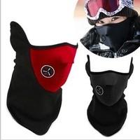 Warm Neoprene Winter Ski Mask Snowboard Motorcycle Bike Soft Red Black Blue Free Shipping,2pcs/lot