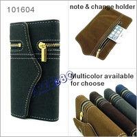 Zipper Retro Vintage Two Seperate Pieces PU Leather Wallet Bag Case for Apple iPhone 5 5th 5G 5s