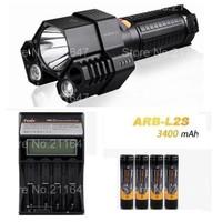 free shipping (Fenix TK76 Torch Rescue Search Flashlight+ARB-L2S 3400 mah 18650 li Battery 4 Pcs +ARE-C2 Charger)