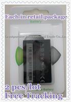 Free Shipping! 2 pcs/lot Brand New 1100mAh TOPA160 Cellphone Battery for HTC Google Tattoo G4 Touch Diamond 2