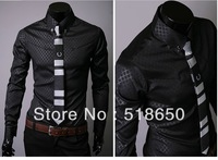 High quality leisure European and American countries long sleeve lapel tight tshirt men coat big yards