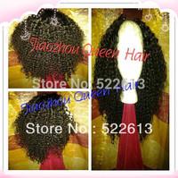 Stock!Queen Hair:Unprocessed Brazilian virgin U part  hair wig Afro kinky curly130-150%density for black women Freeshipping