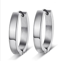 High Quality Big Size Popular Hoop Earrings For Women,316L Stainless Steel,Min order is $15 Free Shipping