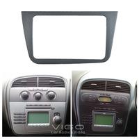 6-002 Aftermarket Radio Fascia for Seat Altea 2005+ Right Wheel Dash CD Trim Installation Kit Face Plate Surround Panel Frame