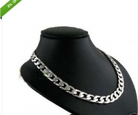 New Men's Fine Argent Silver Jewelry Necklace 22 inch