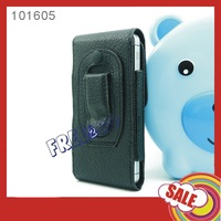 Horizontal Magnet Closure BELT CLIP HOLSTER Textured PU Leather COVER CASE for Apple iPhone 5 5s 5c