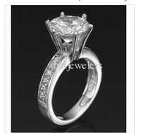 2.50 CT ROUND SOLITAIRE RING 14K WHITE