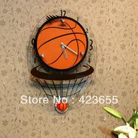 Basketball wall clock fashion clock personality silent watch wall clock derlook pocket watch decoration clock