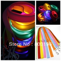 Free shipping 2014 New Arrival Two Side Flashing Dog Leashes 20Pcs/Lot