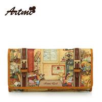 2013 autumn and winter artmi long design vintage women's wallet women's handbag nvbao  bolsa