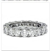 3.00CT HUGE Eternity Anniversary Wedding Ring