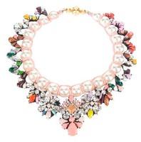 Free shipping ~ 2014 New shourouk necklaces & pendants women iridescent crystal big gem necklace retail